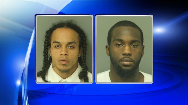 The Raleigh Police Department charged Ari Demitrius Everett, 21, of Raleigh, (left) and Kristopher Devonte Stewart, 22, of Raleigh, (right) with three counts of robbery with a dangerous weapon, attempted robbery with a danferous weapon and four counts of conspiracy to commit robbery with a dangerous weapon.