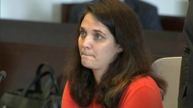 Michelle Smith White attends a May 6, 2016, court hearing in which a judge orders her to stay away from a former student with whom she is accused of having a sexual relationship.