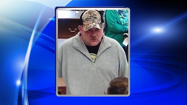 Authorities are searching for the man who robbed a Garner bank on Friday.