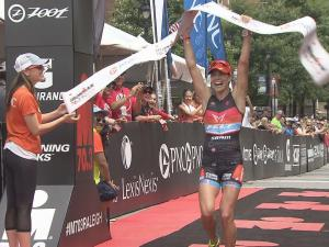 More than 2,200 athletes from around the world swam, biked and ran through the Triangle Sunday for the annual Ironman triathlon.