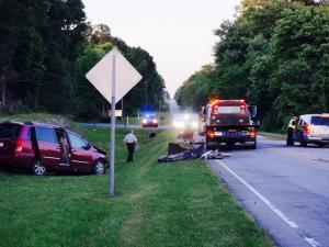 Authorities responded to the crash in front of Grace Assembly Church at 2400 Wait Avenue at about 6 p.m.