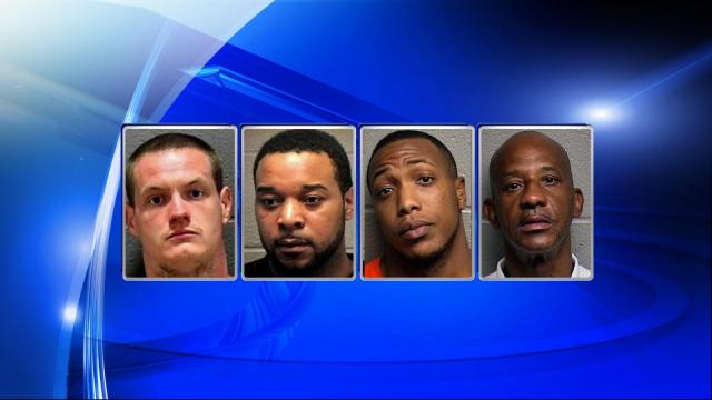 Four people were arrested $20,000 worth of drugs were seized after search warrants were executed on three homes and a pharmacy in Durham.