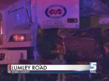 One person was taken to the hospital with non-life threatening injuries early Sunday morning after an 18-wheeler collided with an airport shuttle near the Raleigh-Durham International Airport.