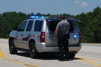 A manhunt is underway on Wednesday in Cumberland County for a suspect who robbed a salon in Stedman.
