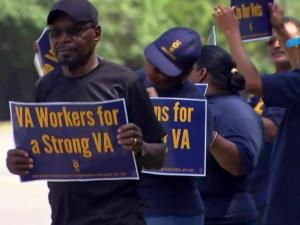 Protest at Fayetteville VA Medical Center