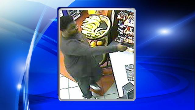 Raleigh police are seeking public assistance in locating a man who robbed a convenience store late last month.