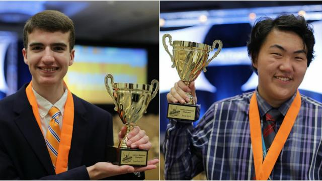 Ryan Cataflu, 17, won the 2016 crown for PowerPoint 2013, and Skyler Won, 16, took home the title for Excel.