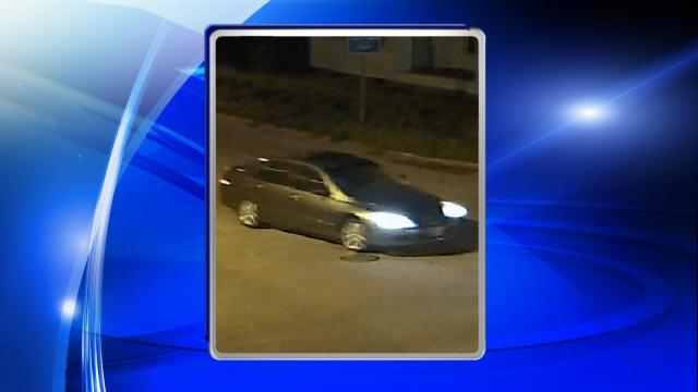Police said the man was driving a dark-colored, four-door sedan, which was captured on surveillance footage.