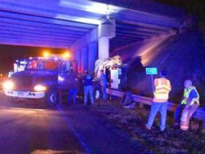Pickup truck strikes bridge on Highway 70 near Selma