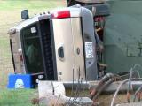 Pickup truck wrecks into Clayton electrical equipment, briefly knocks out power