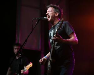 Superchunk on stage at Chaz's Bull City Records celebrates 11 years at Ponysaurus Brewing Co. in Durham N.C. on Saturday August 6, 2016. (Chris Baird / WRAL Contributor).