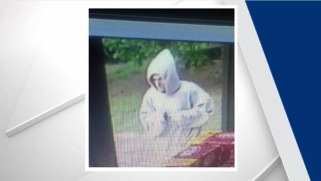 Officials were searching Sunday for a suspect following an armed robbery at a gas station in Cary.