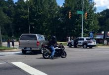 Eastbound lanes of N.C. Highway 55 were closed in Durham Wednesday afternoon near North Carolina Central University due to a crash.