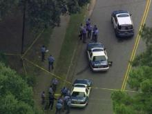 Raleigh police roped off several blocks of Donald Ross Drive in east Raleigh late Monday morning.