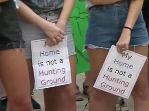 After a week in which rape allegations again turned a negative spotlight on the University of North Carolina at Chapel Hill, students and supporters of those who are victims of sexual assault marched Friday across campus.