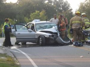 Roof cut off car to rescue man trapped in Moore County crash
