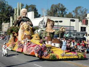 Garden of Oz float in the 2009 Tournament of Roses Parade (Photo courtesy of Bayer Advanced)