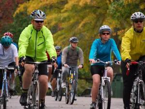 Cyclists ride for cancer research Sunday.
