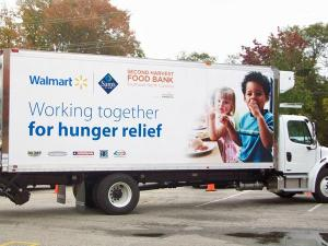 The Walmart Foundation is giving the Second Harvest Food Bank of Southeast North Carolina a refrigerator food truck.