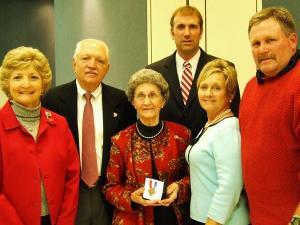 Robert Haywood Butler's family at the Veterans Day ceremony in Lillington on Wednesday, Nov. 11, 2009.