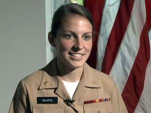 Karen Achtyl will be amongthe first 24 women to train to become officers aboard U.S. submarines.