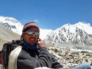 Jamie Wilde, of Raleigh, is leading a 7 Summits Club team up Mount Everest. Wilde is raising money for the Global H2O charity. (Photo courtesy of James Wilde)
