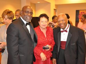Chancellor Charlie Nelms (left) and Chancellor Emeritus LeRoy Walker and his wife.