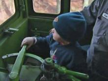 Preston Winslow confidently took the controls Saturday on the New Hope Valley Railway.