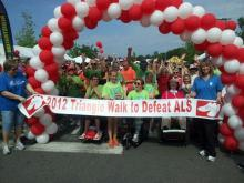 Triangle Walk to Defeat ALS