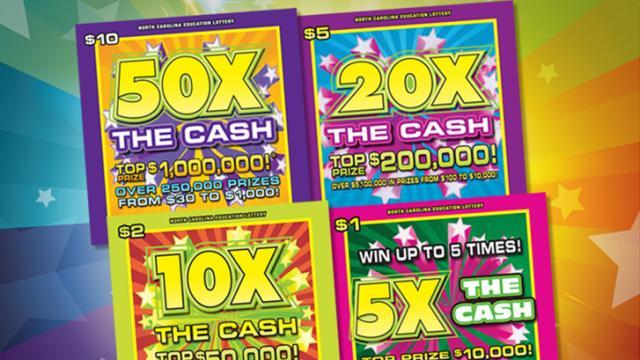 New lottery games, courtesy of North Carolina Education Lottery