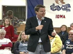 John Edwards campaigns in Iowa