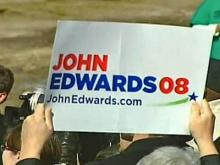 His Candidacy Over, Edwards' Positions Go On