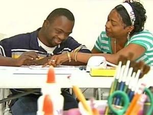 Bernard Powell, 21, gets care for Down's syndrome in a day program at the Family Home Life in Roanoke Rapids.