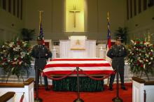Mourners attend Helms' visitation