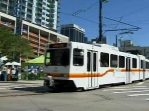 You can ride Denver's light rail from the suburbs to downtown.