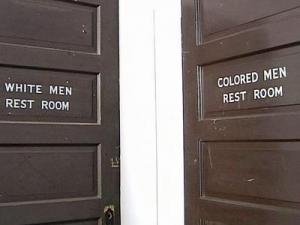 Bathrooms in North Carolina were still separated by race 45 years ago.
