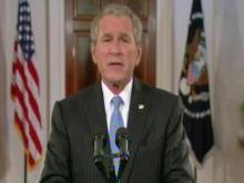 President Bush addresses the Republican National Convention