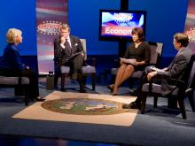 Gubernatorial candidates Beverly Perdue and Pat McCrory square off in a debate at WRAL.