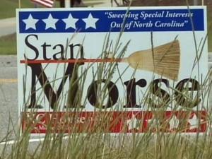 Candidate seeks missing signs