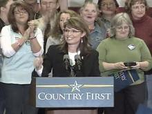Web only: Sarah Palin talks to large crowd in Asheville