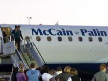 Images of Sarah Palin arriving in Raleigh on Nov. 1, 2008.