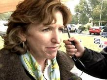 Hagan spends Election Day campaigning