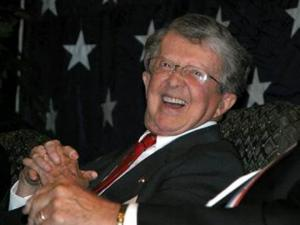 Former Gov. Jim Holshouser in an undated photo provided by his family