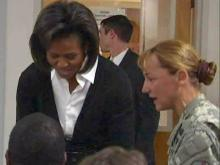First lady tours Bragg, meets with Army families
