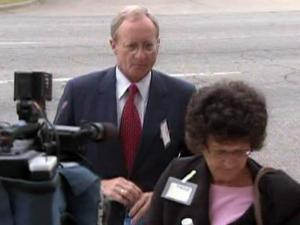Former N.C. State Provost Larry Nielsen enters the federal courthouse in Raleigh on July 16, 2009.