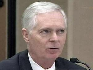 Former Gov. Mike Easley testifies on Oct. 28, 2009, during a hearing into his campaign finances.