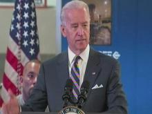 Biden talks at Durham LED maker