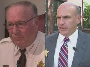 Durham County Sheriff Worth Hill, left, and Republican challenger Roy Taylor
