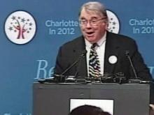 Charlotte fundraiser and businessman Cameron Harris' had an enthusiastic reaction to announcement that the Democratic National Committee will convene in the Queen City in 2012.