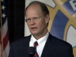 Raleigh Mayor Charles Meeker delivers his annual State of the City address on March 14, 2011.